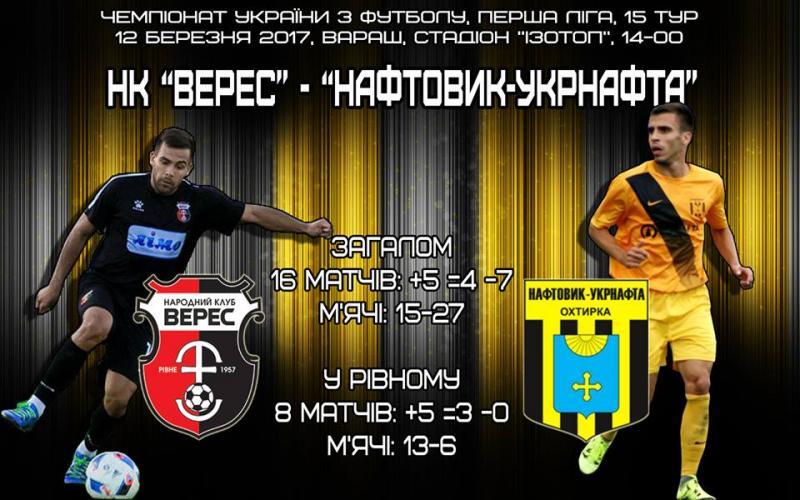 Рівненський «Верес» зіграє перший цьогорічний матч чемпіонату України (ОНЛАЙН ТРАНСЛЯЦІЯ)