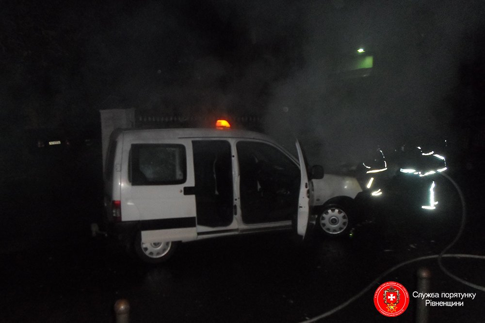 У Рівному знову горіла автівка
