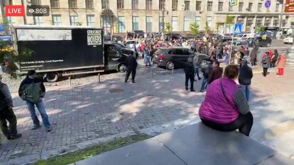 Поліція не пустила підприємців під стіни КМУ в Києві
