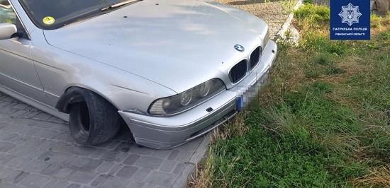У Рівному нетверезий 24-річний водій BMW скоїв ДТП