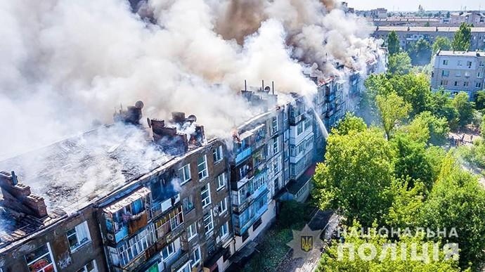 Пожежа 5-поверхівки в Новій Каховці сталася через підпал